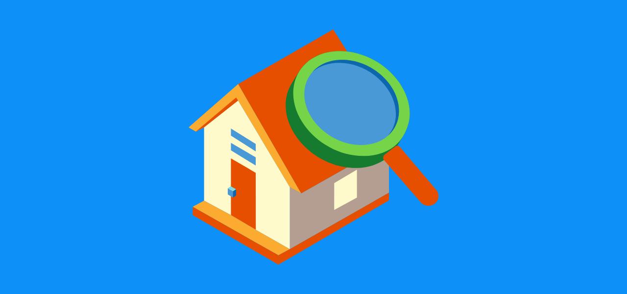 Hus og forstørrelsesglass